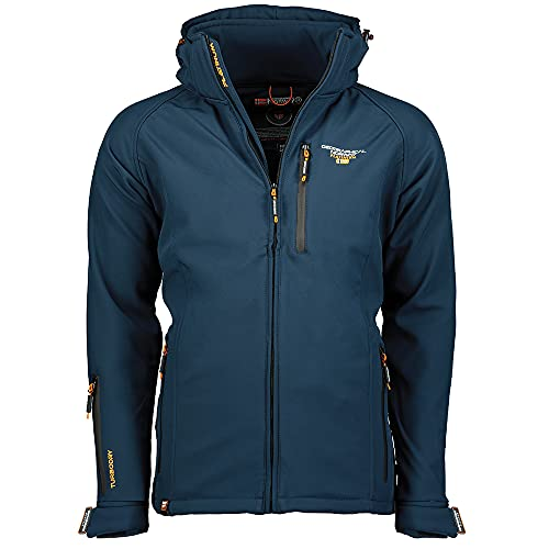 Geographical Norway TABOO MEN - Chaqueta Softshell Impermeable Hombre - Capucha Transpirable Exterior - Chaqueta...